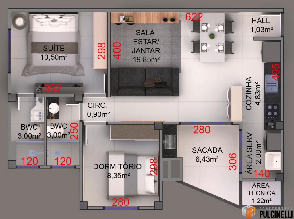 Construtora Pulcinelli: TORINO   Edifício Residencial